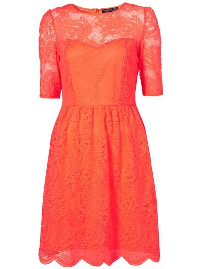 Tall Neon Lace Dress: 100 Lace Dresses for Summer: Style: teenvogue.com