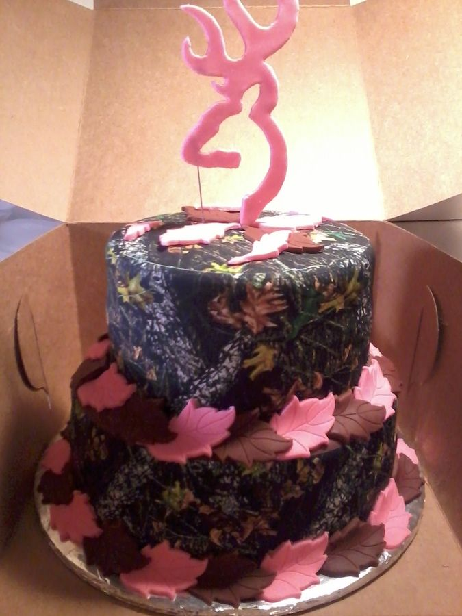 pink camo cake | camo pink camo print with pink accents and deer head