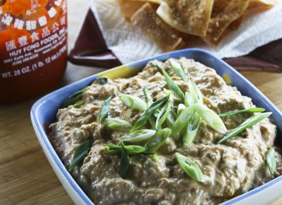 Spicy Crab Rangoon Dip! Added a couple tablespoons of sweet chili sauce and it was delicious!