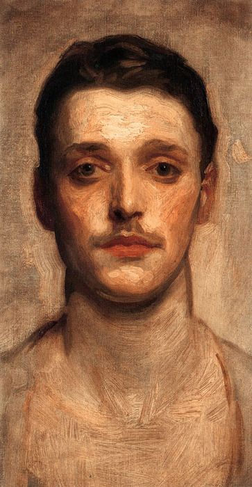 Study of a Young Man. John Singer Sargent (1856-1925). Oil on canvas. 25.4 x 45.72. Private collection