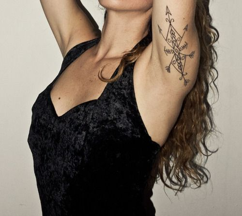 under-arm tattoo..love the placement. Inspired, obviously do my own design though =)