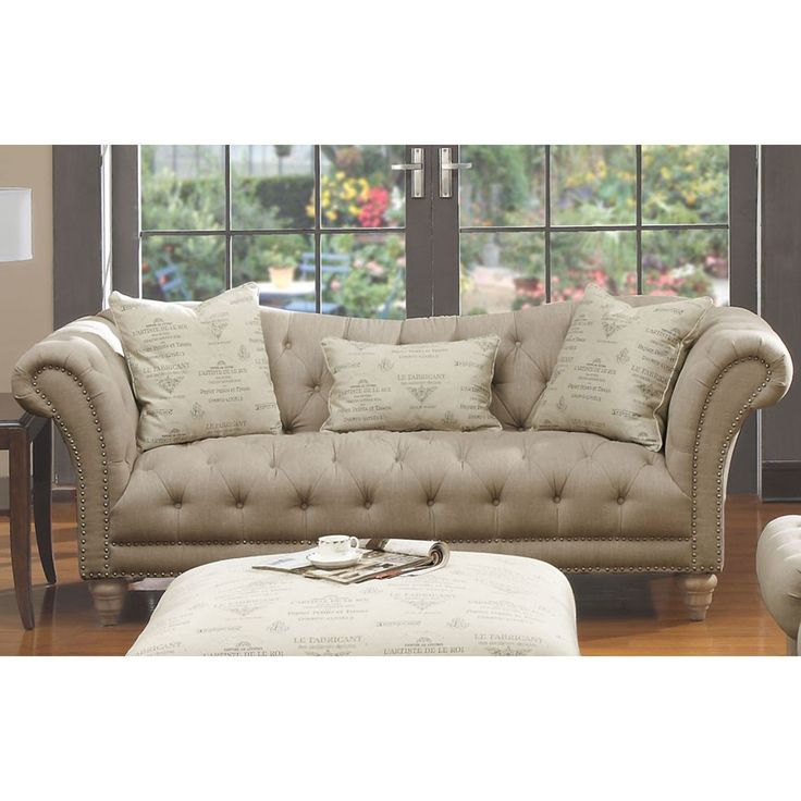 Spectacular Emerald Home Furnishings Hutton Sofa Nailhead with Pillows