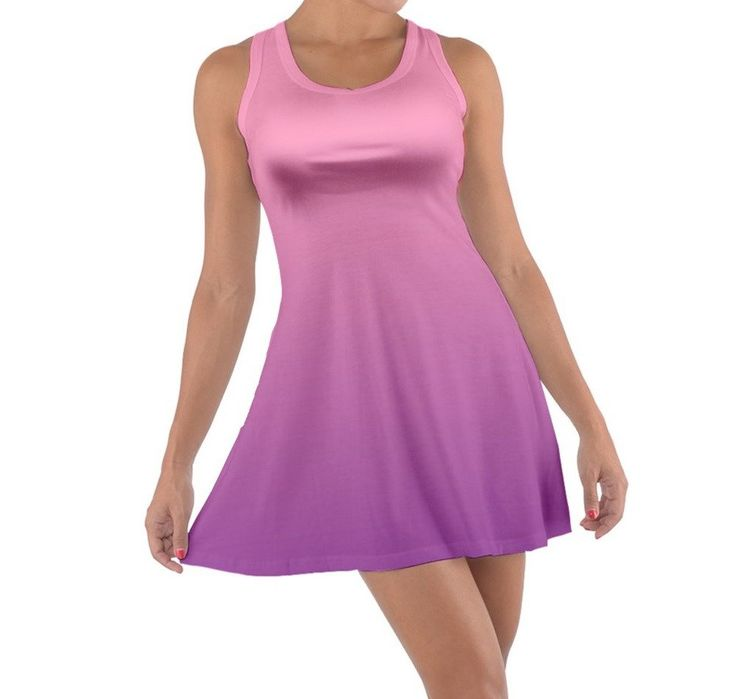Pink to Purple Ombre Racer Back Tank Dress