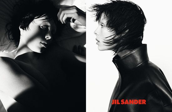 Jil Sander Fall 2013 Edie Campbell photographed by David Sims. Photo courtesy of Jil Sander