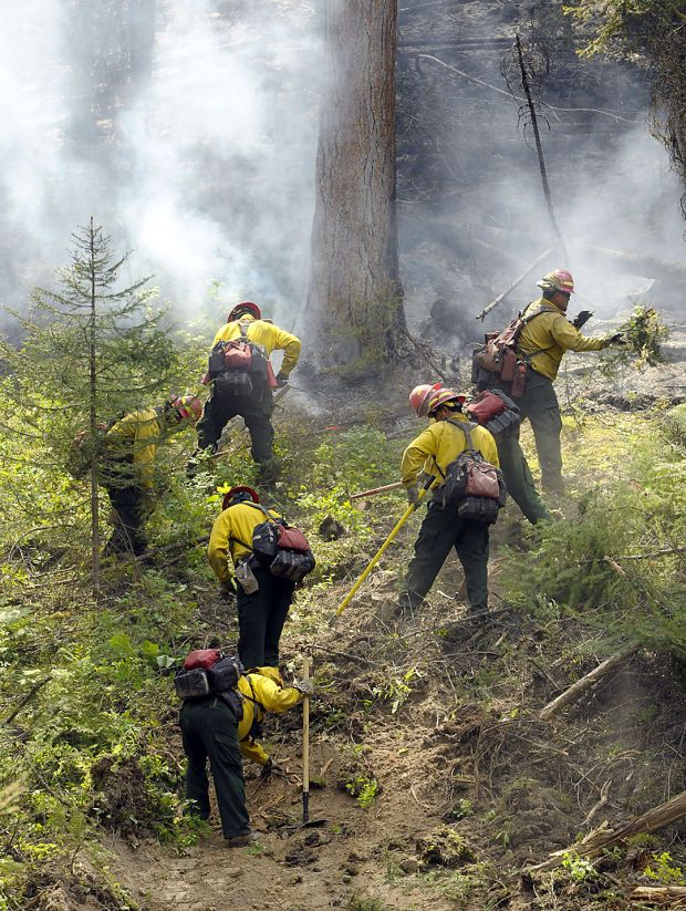 Steep terrain, on 12 to 14 hour days fighting wild land fire.