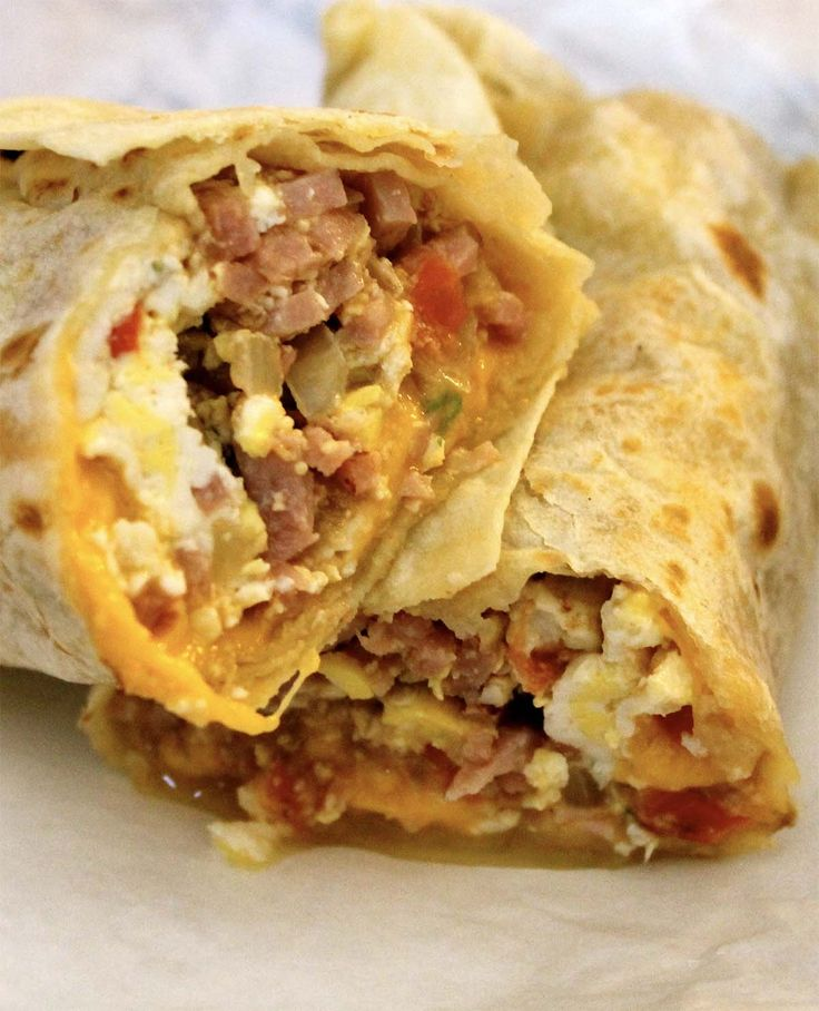 Recette: Burritos déjeuner.