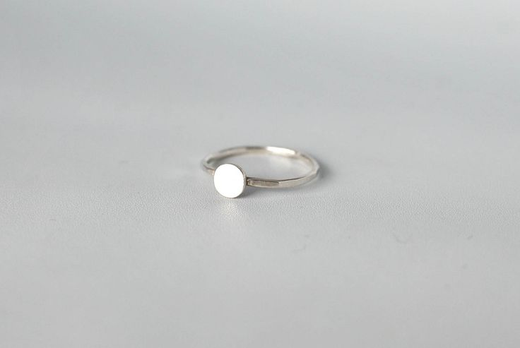 Mini Circle – handmade silver ring. Pretty on its own. Stackable.