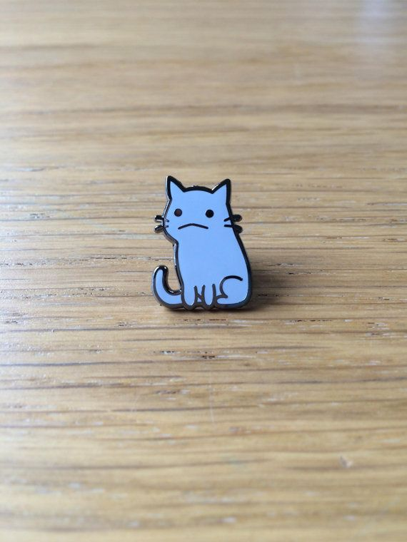 Flimsy Kitten hard enamel pin
