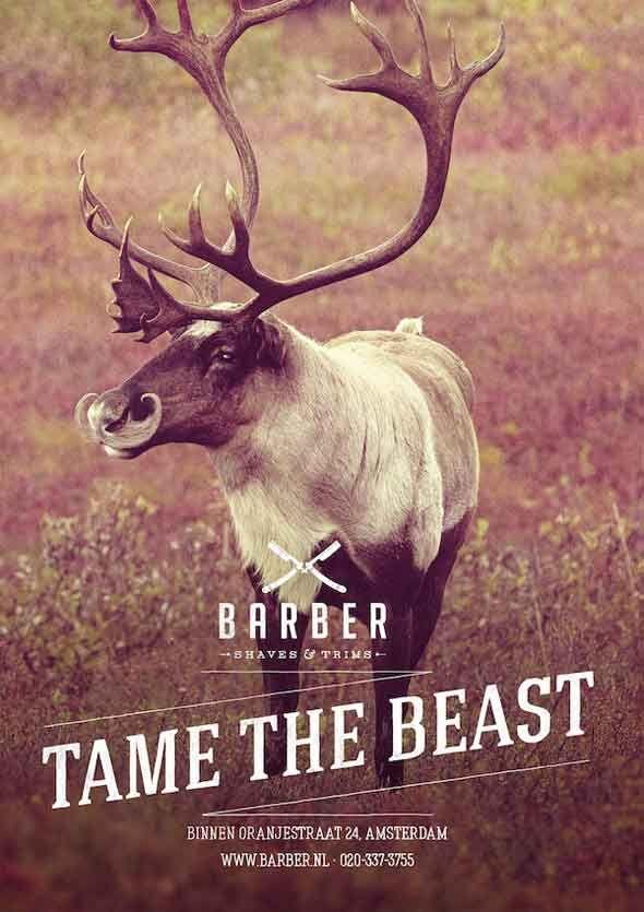 Pub Barber Shaves & Trims : Animaux Sauvages à Moustaches