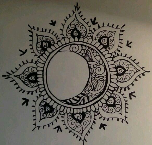 Sun and moon, forever in love mandala tattoo