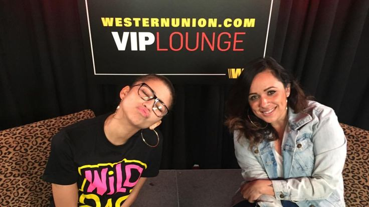 """WiLD 94.9 on Twitter: """"You know Zendaya had to kick it with our girl @/itsgabbydiaz_ in the #WesternUnionVIPLounge too! """""""