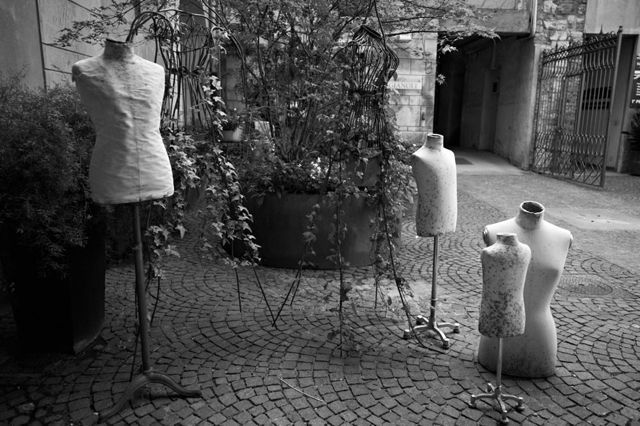 Mannequins on the streets of Lake Como by Keith Moss http://keithmoss.co.uk #film #italy #ilford #keithmoss #street