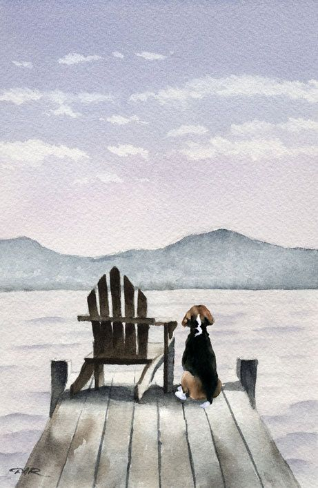 Hey, I found this really awesome Etsy listing at https://www.etsy.com/listing/281624820/beagle-art-print-signed-by-watercolor