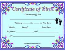 free birth certificates