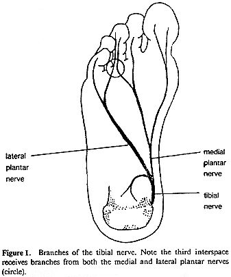 pain bottom of foot nerve