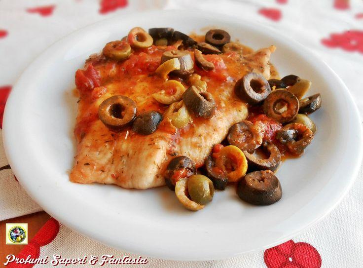 Petto di tacchino al pomodoro basilico e olive  Blog Profumi Sapori & Fantasia