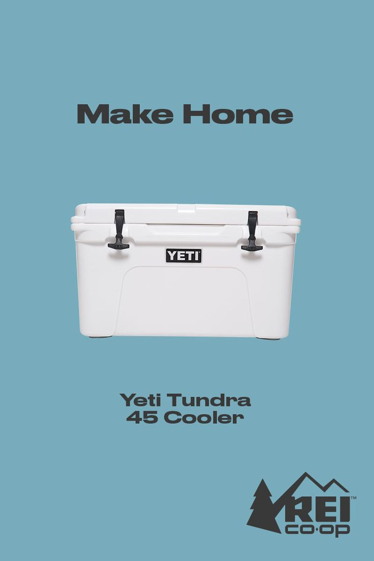 Made from the same stuff as whitewater kayaks, the YETI Tundra 45 cooler is virtually indestructible. What's more—its unique design is built to keep food and drinks icy-cold for days on end. Shop now for your next adventure. #LetsCamp
