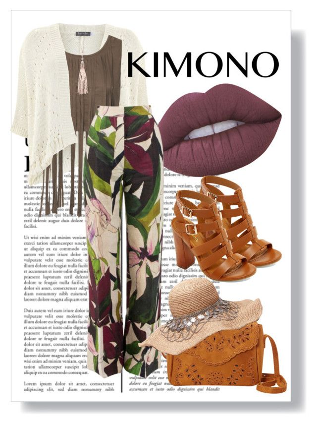 """""""Earth Tones"""" by catherine-megan-jones ❤ liked on Polyvore featuring Lime Crime, Mint Velvet, Erika Cavallini Semi-Couture, Bamboo, Oasis and kimonos"""