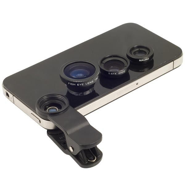 $3.49// 3 in 1 Clip-on Fisheye, Macro, and Wide angle lenses// Can be used with iPhone and Samsung