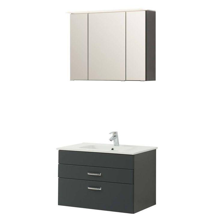 Badezimmer Set In Grau Mit 3D Spiegelschrank (2 Teilig) Jetzt Bestellen  Unter: Https://moebel.ladendirekt.de/bad/badmoebel/badmoebel Sets/?uidu003d83ff1f0c E6f9  ...