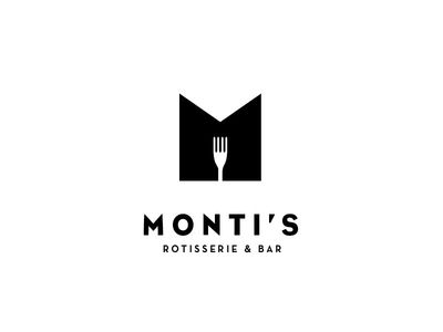 Monti's Rotisserie and Bar Logo Concept 2