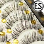 ES 10 Pairs Handmade Glamour Eyelashes(Transparent Stem)