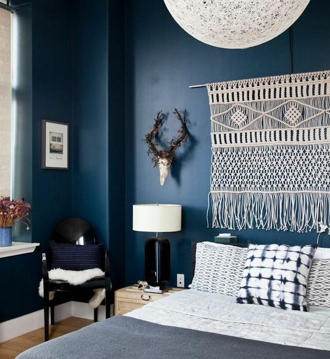 Chambre cocooning bleue boh me chambre bedroom - Idee deco chambre cocooning ...