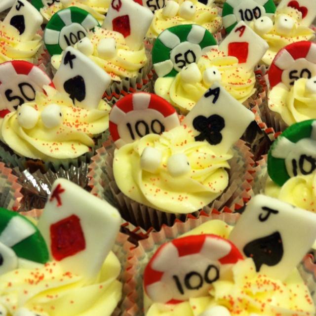 Poker cupcakes by Jess