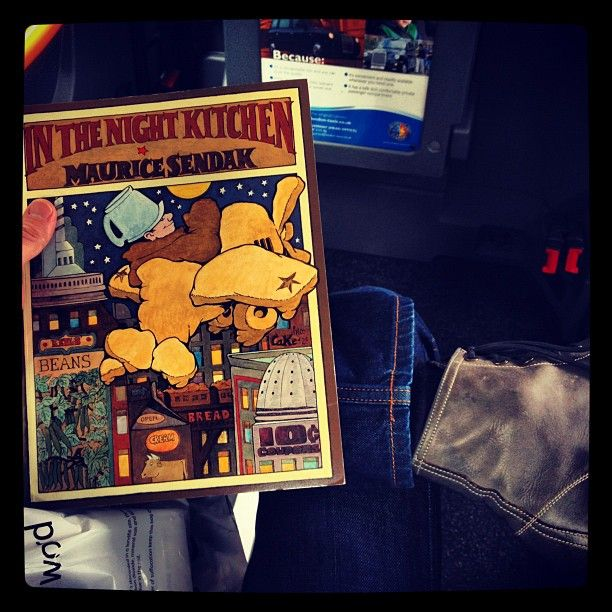 """JUNE 21, 2012 - MIKA (@mikainstagram) on Instagram: """"In London book shopping for references. This is such a masterpiece of illustration."""" - """"In The Night Kitchen"""" book by Maurice Sendak"""