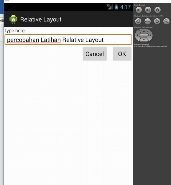 Tutorial Android 3 - Membuat Relative Layout