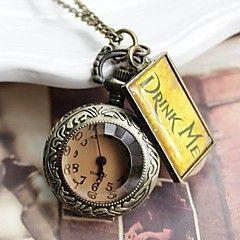 Bronze Vintage Watches Big Pocket Watch Fashion Necklace Quartz Pocket Watch