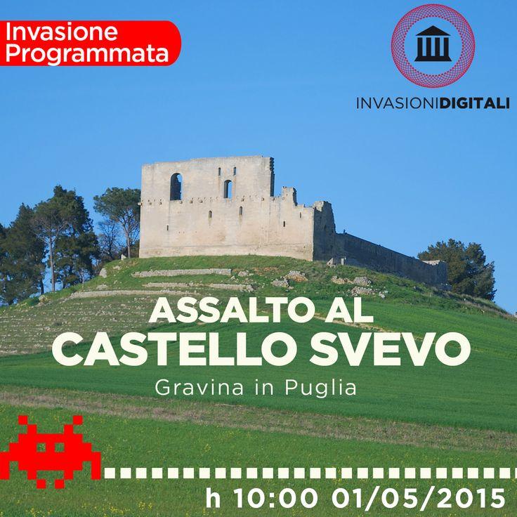1 Maggio 2015  Il 1 Maggio a Gravina in Puglia ci sarà una grande invasione digitale organizzata dalle associazioni Club Unesco Gravina e Archeoclub Gravina.