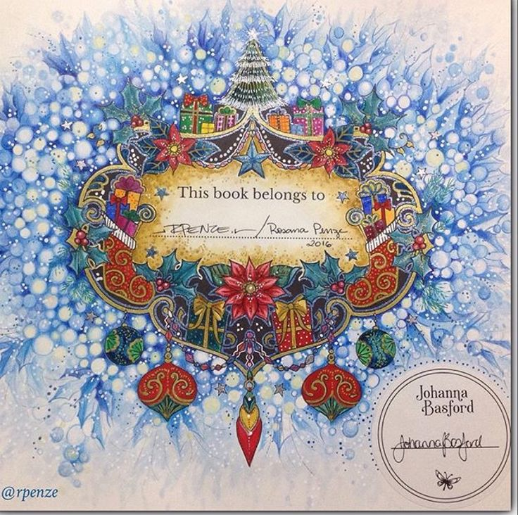 Pin By Ruth OHara On Johanna Basford Christmas Flowers