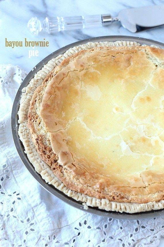 A rich blondie filling with a sweet cream cheese layer on top all nestled into an easy pie crust! SO GOOD!