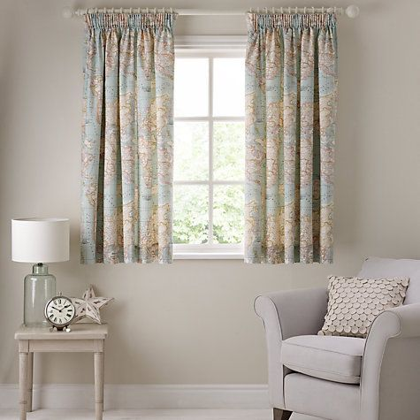 Buy John Lewis World Map Lined Pencil Pleat Curtains Online At Johnlewis