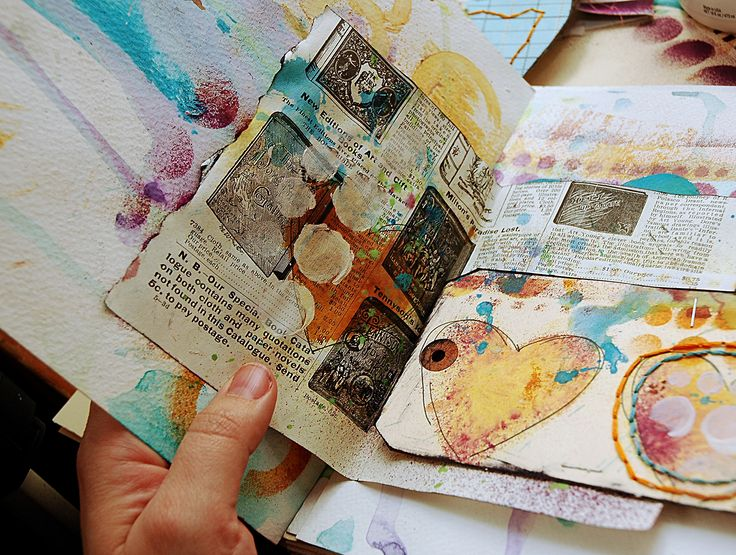 links to get started on art journaling. pix: art journal by Dina Wakley #art_journaling #tutorials