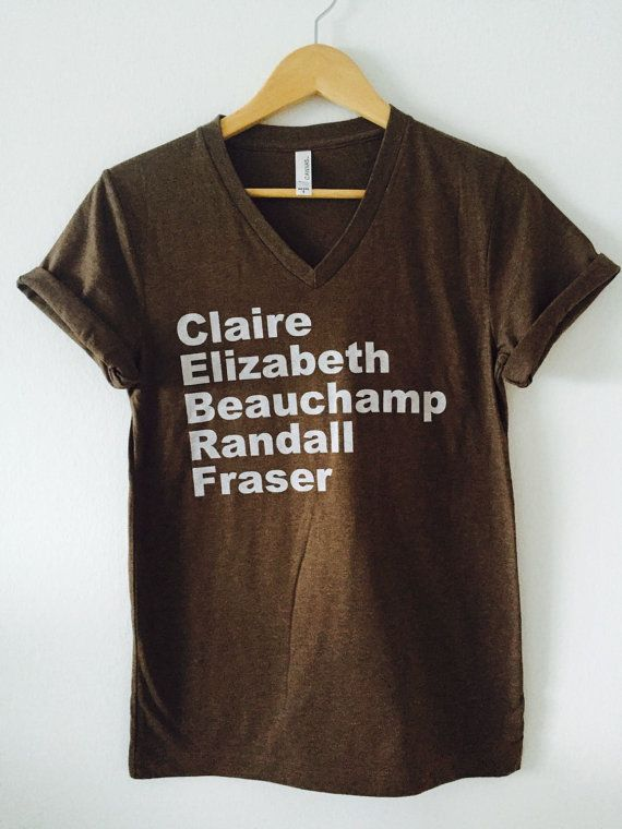 17 best our products images on pinterest oc outlander and beverage outlander claire fraser unisex v neck tshirt by mdcg on etsy fandeluxe Gallery