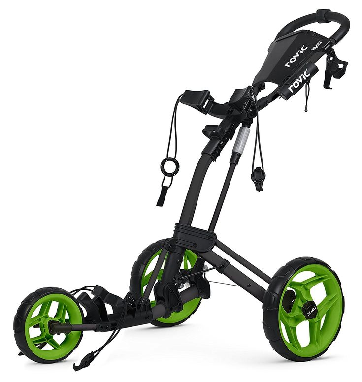 Make your life easier on the golf course with this high quality Rovic RV2L golf push cart by Clicgear!