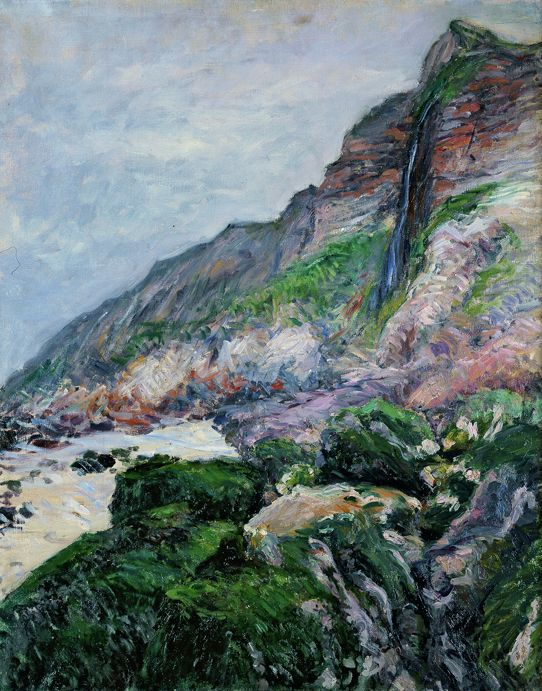 Gustave Caillebotte (French, 1848–1894). Cliffs in Normandy, 1880. Oil on canvas, 28 3/4 x 23 5/8 in