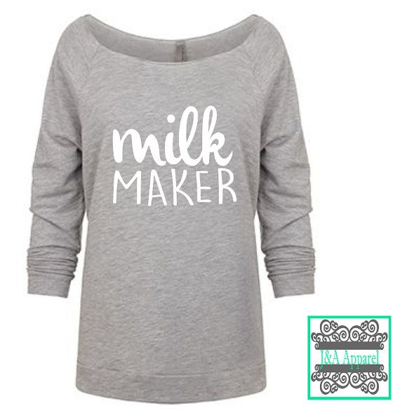 Breastfed and Proud :) Lightweight and luxurious, this French terry raglan feels amazing!  Shown in Heather Grey with White Lettering. If you would