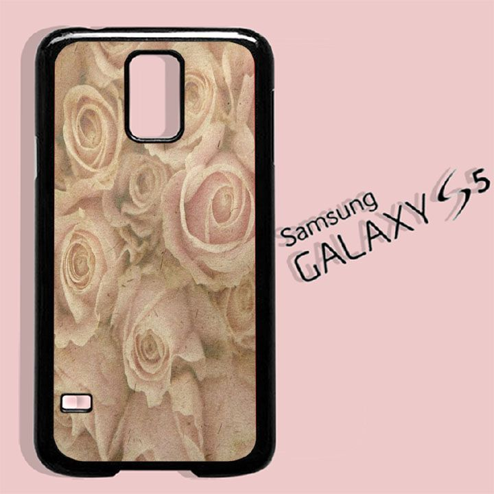 Vintage Floral Roses For Samsung Galaxy S5 Case