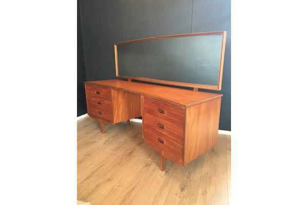 #Vintage Danish Influence Teak Austinsuite Dressing Table Or Desk 1970's | Vinterior London