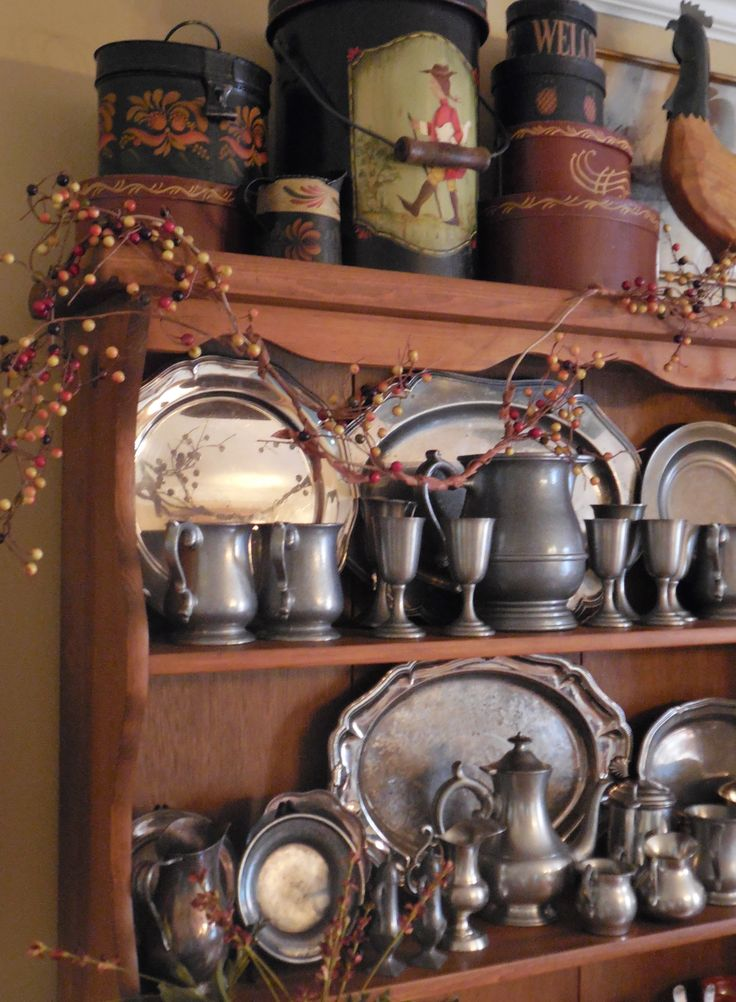 Wonderful collection of pewter