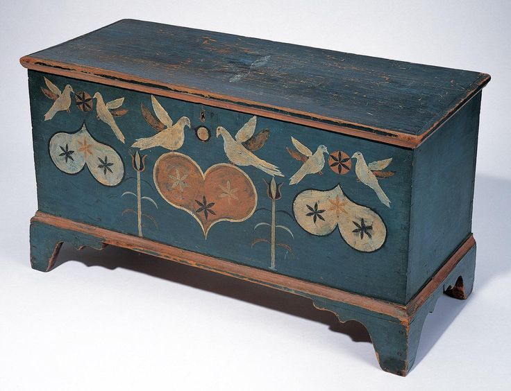 Small Chest, Attributed to Johannes Spitler, Virginia,  c. 1800