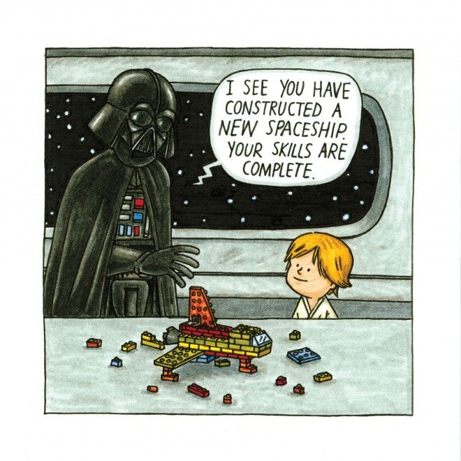 """Darth Vader and Son.  Read the book at Indigo. It's pretty funny :) Not exactly a book you can """"read"""" to students though."""