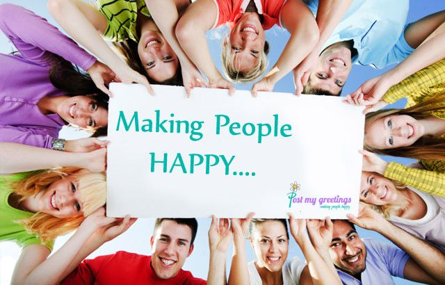 Making People Happy - Post My Greetings