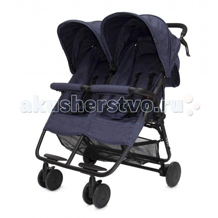 Cozy Прогулочная коляска для двойни Smart  Cozy Прогулочная коляска для двойни Smart - стильная, красивая и очень удобная, она непременно понравится малышам, и, конечно же, их родителям своим комфортом и легкостью при движении. Спинки полностью опускаются, благодаря чему ваши крохи могут спокойно поспать во время прогулки на свежем воздухе. Также предусмотрены два регулируемых капюшона и две подножки.   У коляски четыре колеса из плотной резины, передние – сдвоенные, плавающие, фиксируемые…