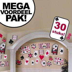 Casino cutouts karton decoraties