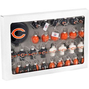 Forever Collectables NFL Ornament Set, Chicago Bears, 31pc