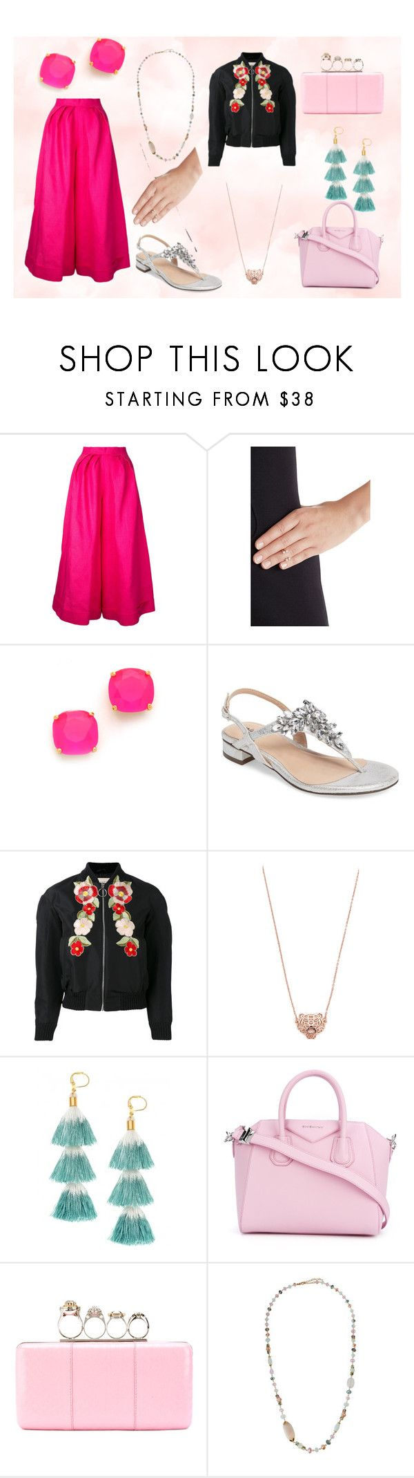 """""""Pink for You"""" by justinallison ❤ liked on Polyvore featuring Delpozo, Delfina Delettrez, Kate Spade, Pink Paradox London, Gucci, Kenzo, Shashi, Givenchy, Alexander McQueen and Emily & Ashley"""